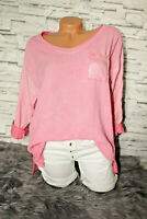 Italy New Collection Bluse Shirt pink Pailetten  36 38 40 42 blogger Vintage