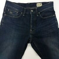 G-Star Raw 3301 Mens Jeans W33 L30 Dark Wash Blue Slim Fit Straight High Rise