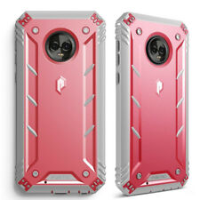 For Motorola Moto G6 Case [360° Protective] Premium Shockproof Cover Pink