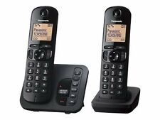 Panasonic Kxtgc222eb Twin Cordless Phone With Answer Machine LCD Display Y0br