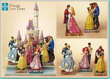 Jim Shore Princess of Love Set of 5 couple + Castle Displayer Disney Traditions