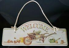 Hallmark Marjolein Bastin Welcome Porcelain Hanging Garden Sign Plaque