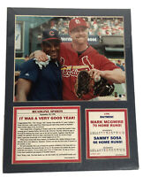 1998 Mark McGwire Sammy Sosa Matted 8x10 Photo Picture Cubs Cardinals NO FRAME