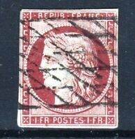 "FRANCE STAMP TIMBRE YVERT N° 6 b "" CERES 1F CARMIN FONCE "" OBLITERE A VOIR  R905"