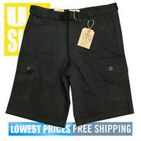 OTB One Tough Brand V2 Men's New WT 6-Pocket Cargo Shorts Black 38 x 38