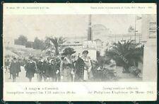 Roma città Padiglione Ungherese Savoia Reali cartolina XB3836