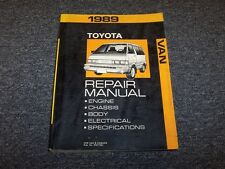 1989 Toyota Van Shop Service Repair Manual Book LE Deluxe Cargo Passenger 2.2L