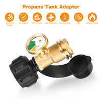 Propane Tank Brass Adapter Pressure With Meter Gauge 4 Master LP Gas Grill BBQ