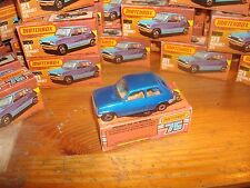 MATCHBOX  SUPERFAST + BOITE N° 21 RENAULT 5 TL MADE IN ENGLAND 100% VINTAGE NEUF