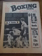 Vintage 1960s Boxeo revista características Clive cocinar Cardiff Boxer Bob Foster