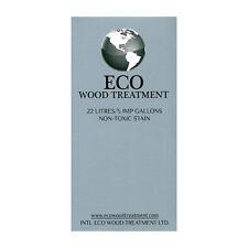 ECO WOOD TREATMENT 22 litres 5 imp gallons non-toxic stain finish lifetime NIB
