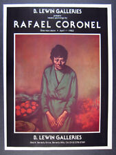 1982 Rafael Coronel paintings exhibition B. Lewin Galleries vintage print Ad