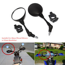 2pcs Motorcycle ABS plastic Mirror w/Mounting Clamp Screw For 22mm Handlebar set