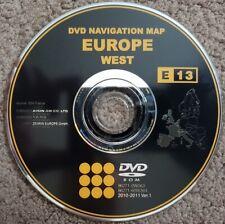 Genuine Toyota Lexus West Europe + UK DVD Map Disc 2010-2011
