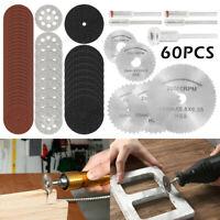 60x mini disques de coupe diamanté lames de roue foret outil rotatif dremel T2