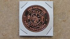 "Patriotic - ""First Responders"" copper round series - 1 ADVP oz. .999 fine copper"