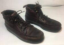 MENS 11 M RJ COLT BROWN LEATHER  LACE BOOTS Nice pre-owned