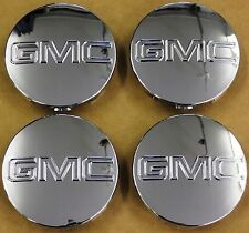 "G075 4X GMC CHROME CENTER CAPS Yukon Denali Sierra 3.25"" 18 20 22 Wheel 9595759"