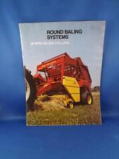 SPERRY NEW HOLLAND ROUND BALING SYSTEMS SALES BROCHURE FARM MACHINE EQUIPMENT