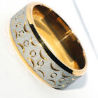 Cool Tribal Indian Big Mens Stainless Steel Gold Ring Rings Band Ring Jewelry 10