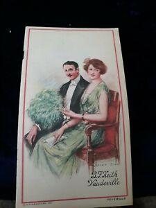 1921 New York CIty B. F. KEITH'S RIVERSIDE THEATRE PROGRAM - Broadway & 96th