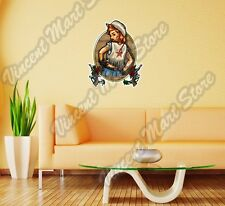 "Cowgirl Cowboy Wild West Texas Gift Wall Sticker Room Interior Decor 18""X25"""