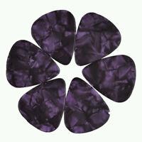 24 pcs New Medium 0.71mm Blank Guitar Picks Celluloid Pearl Purple