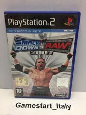 WWE SMACKDOWN VS. RAW 2007 - SONY PS2 - GIOCO USATO PERFETTAMENTE FUNZIONANTE