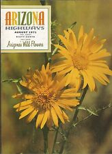 ARIZONA HIGHWAYS August 1971 ~ Wild Flowers