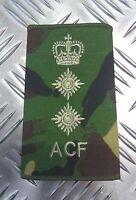 Genuine British Army Woodland Camo ACF Colonel Rank Slide /Epaulette - NEW
