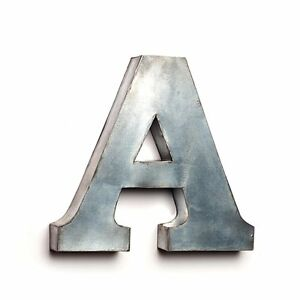 """Rustic Primitive Hanging TIN BOX LETTERS, 7"""" Tall, Choose Your Letter!"""