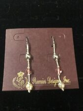 """Toned Earrings $32 (Dc) Premier Designs """"Tres Pink"""" Silver/Pink"""