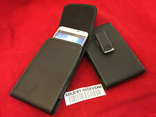 VERTICAL LEATHER BELT CLIP POUCH FOR SAMSUNG GALAXY MEGA 6.3 5.8 CARRYING CASE