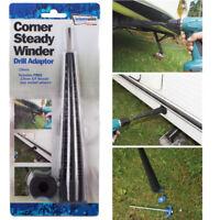 Caravan 19mm & 13mm Corner Steady Leg Winder Drill Extension Adaptor Peg Socket