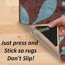 Ruggies Rug Carpet Mat Grippers Non Slip Grip Corners Anti Skid Silicone