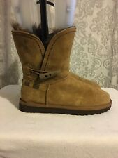 UGG Australia Meadow Short Toggle Tan Suede Boots UK 3.5 Eur 36