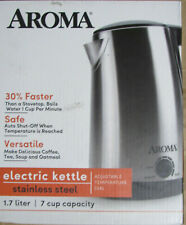 Aroma Electric Stainless Steel Kettle - 7 cup capacity