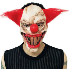 Full Face Latex Mask Scary Clown Halloween Cosplay Costume Party Creepy Horror