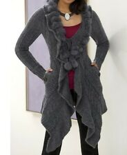 Women's Fall Spring Winter Wool blend fur Sweater cardigan coat jacket plus 3X2X