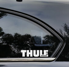 THULE Box Sticker Decals 2X 180mmW Roof Racks Snow Surf Skiing Stickers for Car.