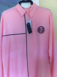 Glenmuir jason golf polo pink  large and  medium  long sleeves bnwt
