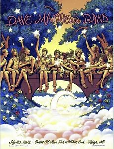 Dave Matthews Band Poster 2021 Raleigh NC 7.23.21 DMB Flames Preorder*