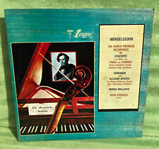 Felix Mendelssohn The World Première Recordings Concerto Vinyl Record TV 34170S