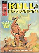 KULL AND THE BARBARIANS #2 (FN/VF) FROM CREATOR OF CONAN, 1970'S MARVEL MAGAZINE