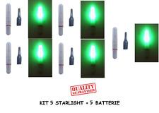 kit 5 starlight a led elettronici galleggianti pesca luce notturna pile batteria