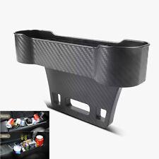 1x Carbon Fiber Look Car Seat Storage Box Pocket Side Organizer Holder Universal