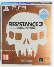 jeu RESISTANCE 3 édition spéciale collector steelbook metal playstation 3 PS3