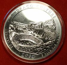 2012 ATB CHACO CULTURE DESIGN .999% 5 OZ SILVER ROUND BULLION COLLECTOR COIN
