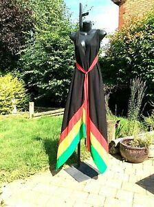 NEW ARRIVAL  Handmade Jamaica Rasta colour Mermaid Maxi dress...One Size...12-16