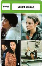 FICHE CINEMA :  JEANNE BALIBAR -  France (Biographie/Filmographie)
